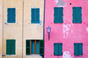 Colorful walls Italy Europe