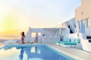 Pool Astra Suites Santorini Greece