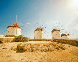 Mykonos Windmills Greece