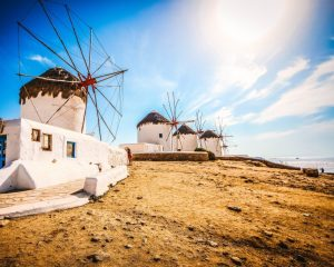 Mykonos Windmills Greece