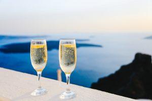 Prosecco in Santorini