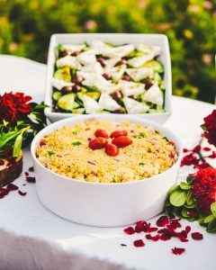 Greek salad and couscous meal