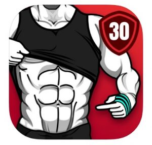 Logo for the Six Pack in 30 Days app, which is perfect for at-home workouts.