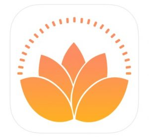 Logo for the Yoga Wake Up app, which is perfect for at-home workouts.